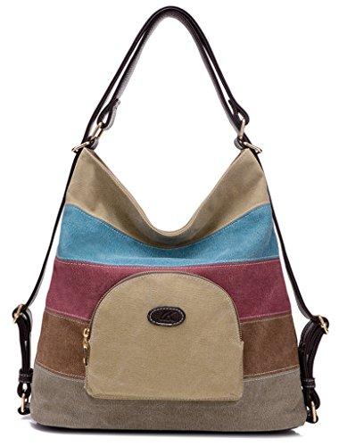 ERGEOB Damen Multifunktions -Tasche Damen Schultertasche Mehrzweck Rucksack blau 01 khahi