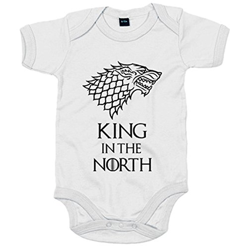 Body bebé Juego de Tronos King In The North Stark - Blanco, 6-12 mese