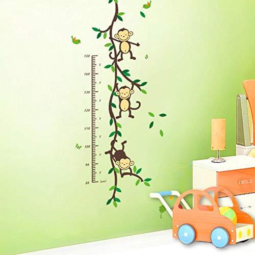 Vine Grafiken (WWDDVH Wohnkultur Mode AFFE Messlatte Kinder Wandkunst Aufkleber Wandtattoos Grafiken Wandaufkleber Home Deco)