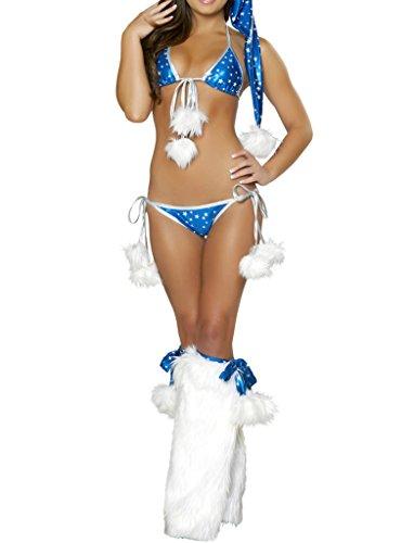 Santa Kostüme Für Sexy Erwachsene (Smile YKK Reizvoll Damen Weihnachten Reizwäsche Cosplay Kostüm Rollenspiel Kostüm,Oberteil+Panty+Strumpf)