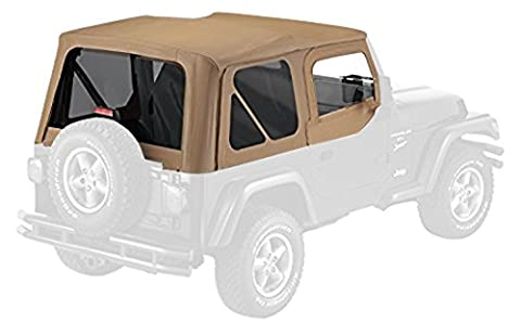 Pavement Ends by Bestop 51197-37 Spice Replay Replacement Soft Top Tinted Back Windows-With upper Door Skins-No frame hardware included- 1997-2006 Jeep Wrangler by Pavement Ends