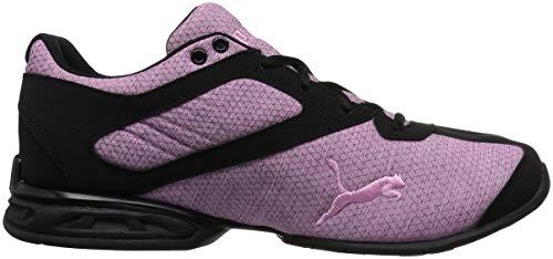PUMA Unisex-Kids Tazon 6 Heather Rip Sneaker  Orchid Black  1 M US Little Kid