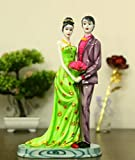 JaipurCrafts WebelKart Resin Romantic Valentine Love Couple Statue Showpiece (Multicolour)