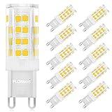 FLOWood G9 LED Glühbirnen 4W/450Lm 220V-240V,G9 Lampe Warmweiß 3000K, Gleich der 25W 28W 33W 40W Halogenlicht,Leuchtmittel,360°Abstrahlwinkel, Nicht Dimmbar, 10er Pack