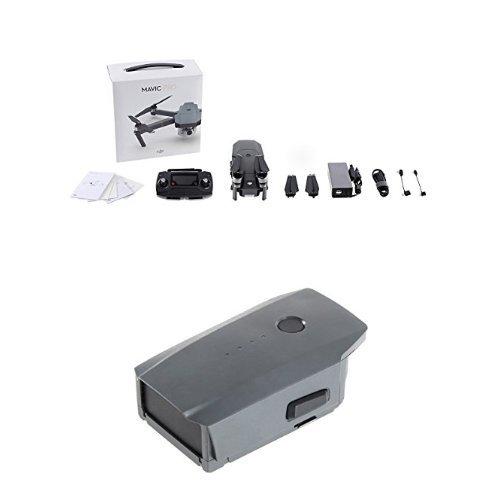 Preisvergleich Produktbild DJI CP.PT.000498 Mavic Pro Drohne grau + DJI CP.PT.000587 Mavic Intelligent Flight Battery grau
