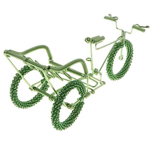 F Fityle Diecast Mini Tandem Bike Modell Handwerk Fahrrad Spielzeug Tischdeko - Grün
