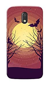 Motorola Moto E3 Black Hard Printed Case Cover by Hachi - Horror Days Design