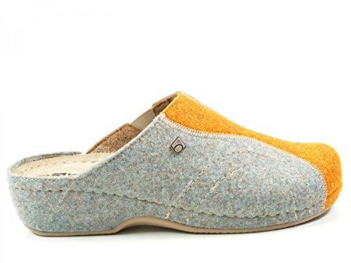 Rohde Giessen-40, Pantoufles non doublées femme Orange