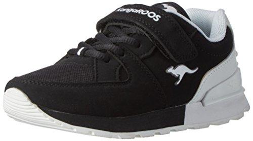 Kangaroos  K-jog Vi, chaussons d'intérieur mixte enfant Noir (noir/blanc)