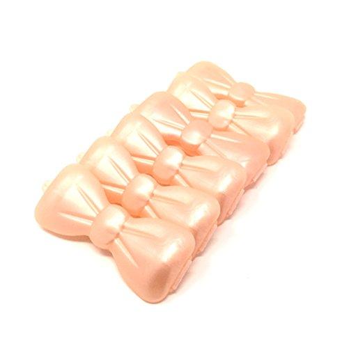 Artikelbild: Hunde-Haarspange 6 Stück perlmutt -aprikot 30