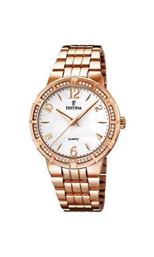 Festina - F16705/1 - Montre Femme - Quartz Analogique - Bracelet Acier Inoxydable Or et Rose