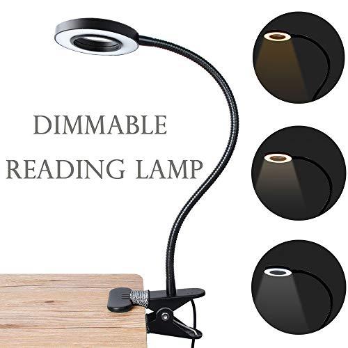 Lámpara LED de escritorio con abrazadera regulable luz de lectura cuidado de los ojos USB Lámpara de mesa LED lámpara de noche de bebé Clip de luz Lapto