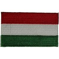 Yantec Patch Ungarn mit Wappen 4 x 6 cm Flaggenaufn/äher