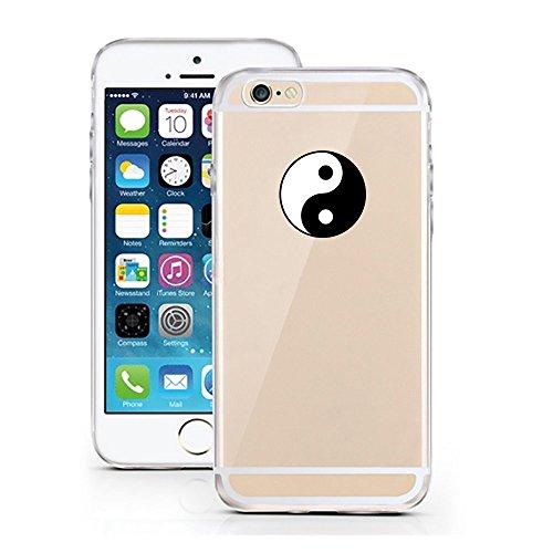 Blitz® SUN Schutz Hülle Transparent TPU Cartoon Comic Case Bumper iPhone Why be moody iPhone 6 6s Ying Yang