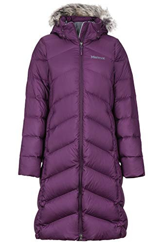 Marmot Damen Daunenmantel Montreaux Fill Power 700, Damen, Women's Montreaux Coat, dunkelviolett, Small (Womens Von Marmot Coat Down)