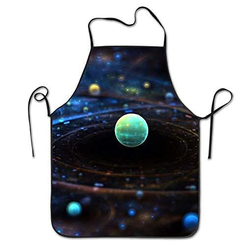 Unisex The Earth Restaurant Home Latzschürze zum Kochen, Grillen und Backen - Verstellbarer Umhängeband (Trockner Blätter, Lavendel)