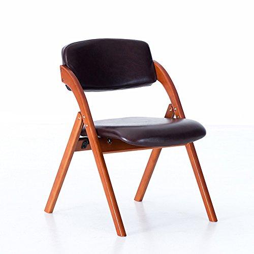 MEIDUO Durable Selles Chaise chaise pliante ménage en bois massif à manger chaise fauteuil fauteuil pour intérieur extérieur (Couleur : F)