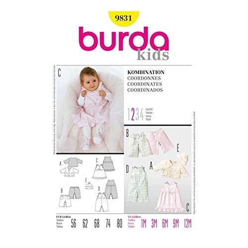 Burda B9831 Patron de Couture Coordonnés 19 x 13 cm