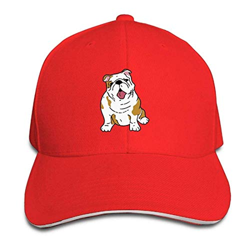ASKYE English Bulldog Outdoor Snapback Sandwich Duck Tongue Cap Adjustable Baseball Hat Street Rapper Hat Men Women Plaid Hat Earflap