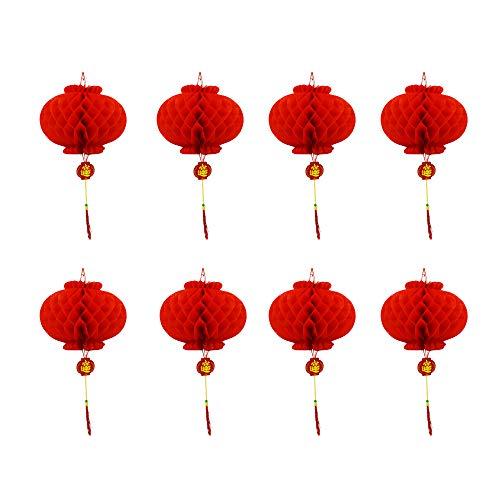 inesische Laterne Ornament Waben Laterne Chinesisches Frühlingsfest Dekoration günstiger guter Satz von 8 (Durchmesser: 26 cm) ()