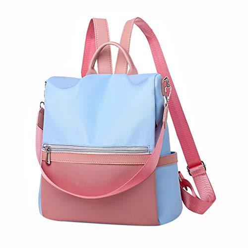 Lenfesh Damen Handtaschen Rucksack Nylon Daypack Umhängetasche Reiserucksack Schulrucksack Backpack Schultertasche Anti Diebstahl Tasche für Schule Reise Arbeit