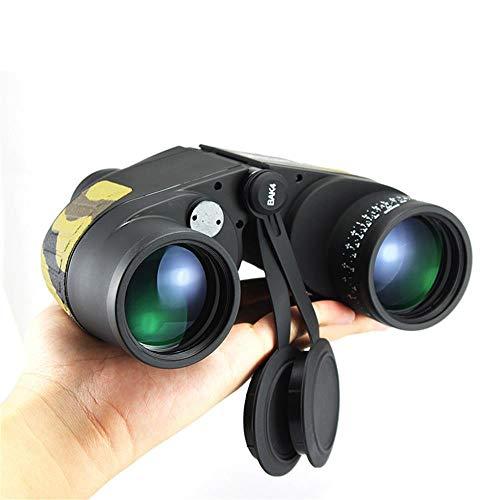 HXZB Jumelles 10x50 avec coordonnées binoculaires Haute définition Vision Nocturne Adulte extérieur