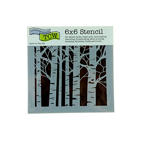 The Crafter 's Workshop Aspen Trees mini Vorlage, Aspen Trees, 6x6 Inches