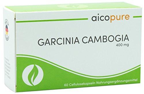 GARCINIA CAMBOGIA 400 mg • vegan • Kapseln • reines Garcinia cambogia Fruchtextrakt mit 60 % Hydroxycitronensäure HCA • Made in Germany … (60 Kapseln)