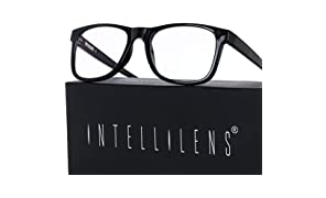 Intellilens® Premium Blue Cut Zero Power Navigator Spectacles with Anti-glare for Eye Protection from UV by Computer Tablet Laptop Mobile (Unisex)