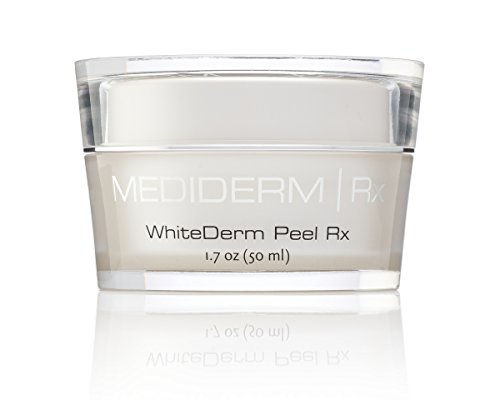 Mediderm WhiteDerm Skin Whitening and Facial Peel Cream with Glycolic Acid for Uneven Skin Tones, Pigmentations, Dull and Wrinkled Skin. (Stärke Kiss)