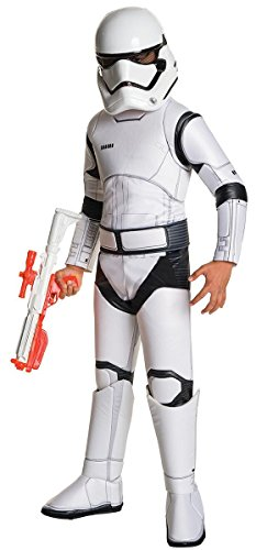 Star Wars Episode VII 4-teiliges Super Deluxe Stormtrooper Kostüm für Kids ()