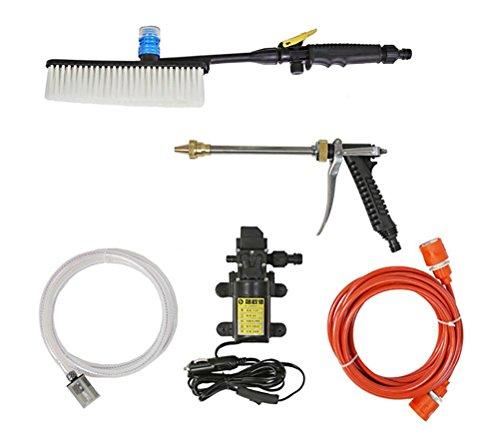 Preisvergleich Produktbild JINER 80 Watt 12 V 6, 0 L / Min Hochdruckreiniger Spritzpistole Auto Elektrische Wasserreiniger Wash Pump Kit Sprayer Pinsel Set