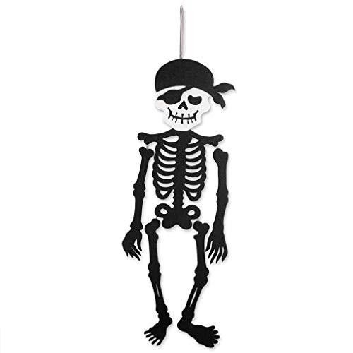 Bomcomi Halloween-Piraten-Skeleton schwarzer hängende Tür Dekor hängende Partei-Verein-Dekoration Ornament Fenster-Wand-Aufhänger-Zeichen
