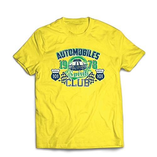 lepni.me Männer T-Shirt Amerikanisches Muskelauto, klassischer Automobilclub (Large Gelb Mehrfarben) -