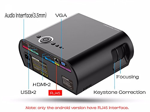 3200lumens Android 4.4 WIFI Bluetooth Portable LED LCD Red&Blue 3D Projector digital Cinema Video HD Projetor Proyector Beamer for home Moive