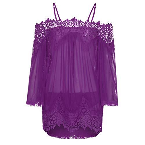 Beikoard Sexy Dessous,Frauen G-String Unterwäsche Dessous Nachthemd Schlafanzug Babydoll Kleid Spitzenkleid Nachtwäsche + ()