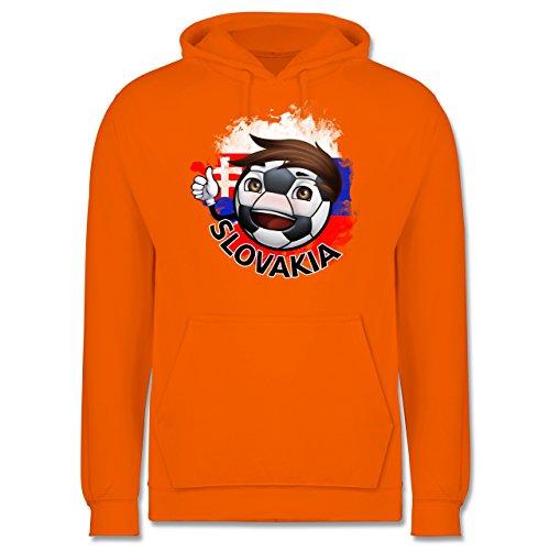 EM 2016 - Frankreich - Fußballjunge Slowakei - Männer Premium Kapuzenpullover / Hoodie Orange