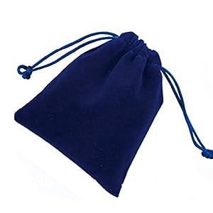 yyuezhi 20 Geschenktüten Blaue Geschenktüten Kordelzugbeutel Samtbeutel Samtbeutel Hochzeitsgeschenkbeutel für Schmuck…