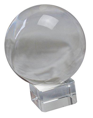 Wunderschöne Kristallkugel aus Glas verschiedene Größen mit Glasständer (6cm Durchmesser)