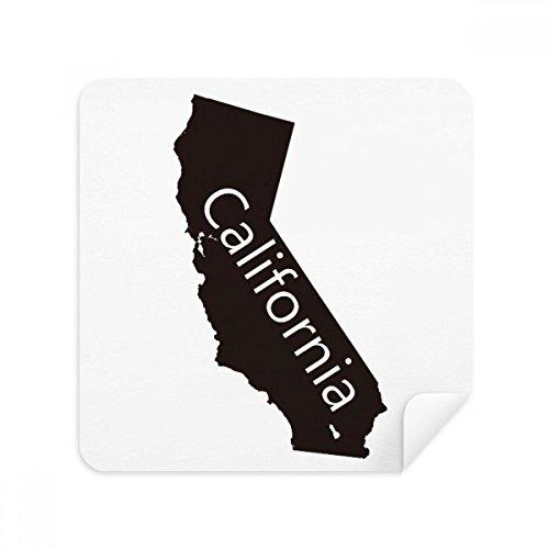 DIYthinker Die Vereinigten Staaten Kalifornien Karte Silhouette Brillen-Reinigungstuch Telefon Screen Cleaner Suede Fabric 2Pcs