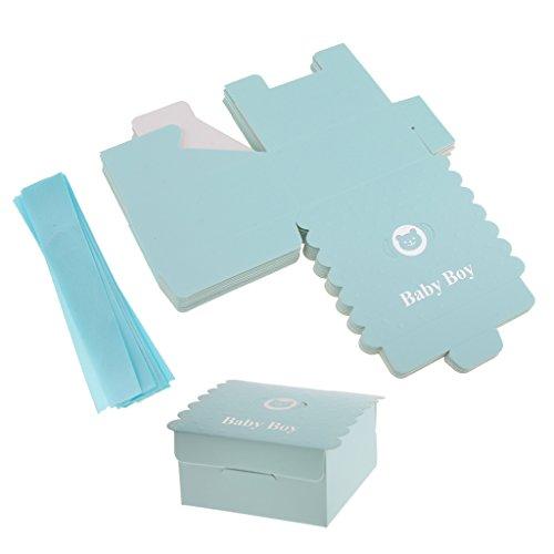 arty Süßigkeit Box Hochzeit Party Bevorzugung Geschenk Box Cookie Tasche - Blau, 17 x 11,5 cm (Cookie-bevorzugung Taschen)
