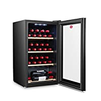 Hoover 150 Liters, 30 Bottles Free standing Wine cooler, Black - HWC30B-X