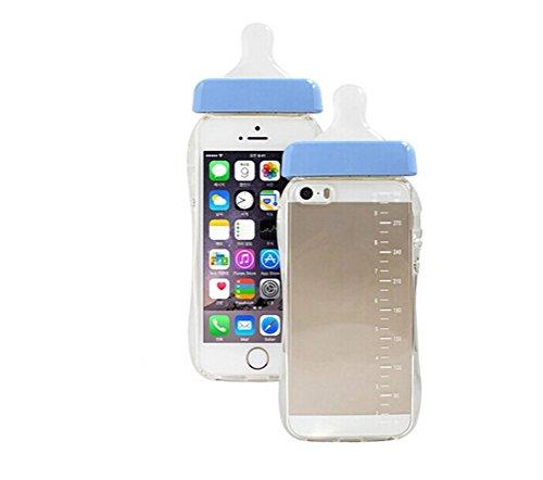 Hosaire Hülle für iphone 6/6S,Handy Schutzhülle Kreativ Baby Schnuller Flasche Design Phone Handyhülle,Transparent,Blau