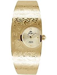 Yonger pour elle DMP 1475/05 D - Reloj , correa de acero inoxidable color blanco