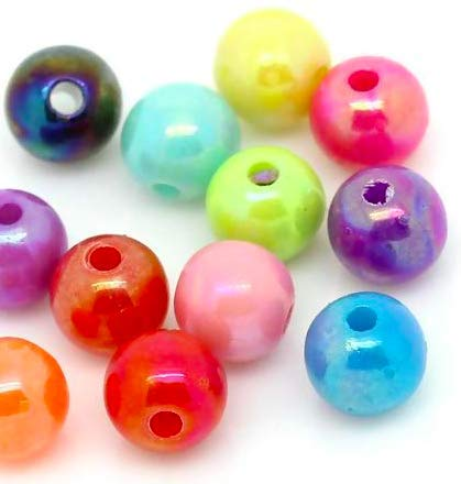 Glasschliffperle weizen 10 Stück 10mm rund
