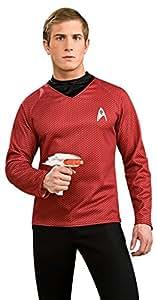 Rubies 3 889119 XL - Star Trek Deluxe Shirt, Größe XL, rot
