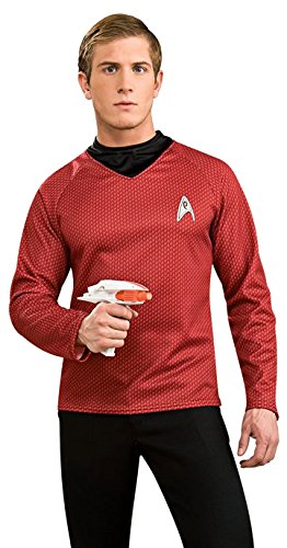 Rubies 3 889119 XL - Star Trek Deluxe Shirt, Größe XL, rot Star Trek Shirt Rot