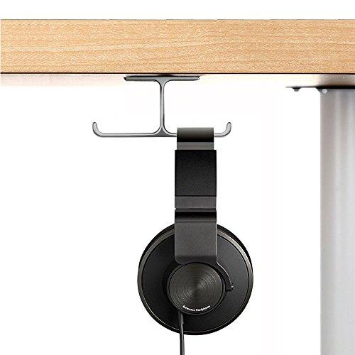 6amLifestyle Kopfhörer Ständer Universal Kopfhörerhalter aus Aluminium Earphone Holder Headset-Ständer für Kopfhörer und professionelle DJ-Kopfhörer Beyerdynamic, Audio-Technica, Samson, Nintendo Grau