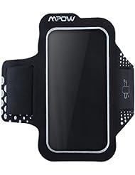 Mpow Brazalete Deportivo para Moviles iPhone 7 6 6S Antideslizante Contra Sudor, Mpow Banda para Brazo con Bolsillito de LLaves,Bolsillito de Auricular Material de Neopren, para iPhone 7 6 6s, Samsung, Huawei, Bq x5, HTC, LG,etc.Compatible with any phone that has a screen up to 5.2 ''