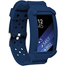 Greatfine Samsung Gear Fit2 Correa, muñequera Deportiva Watch Band de reloj Pulsera de Reemplazo Correa para Samsung Gear Fit 2 SM-R360 Smart Watch (Blue)